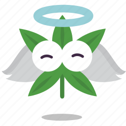 angel, cannabis, marijuana, weed icon