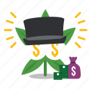 cannabis, fortune, marijuana, rich, weed icon