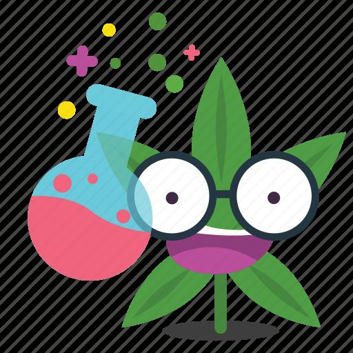 cannabis, geek, marijuana, smart, weed icon