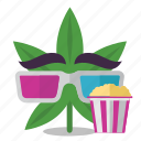 cannabis, entertainment, marijuana, movie, weed icon