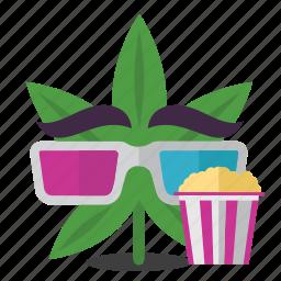 cannabis, entertainment, marijuana, movie, weed icon