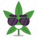 cannabis, cool, marijuana, shades, weed icon