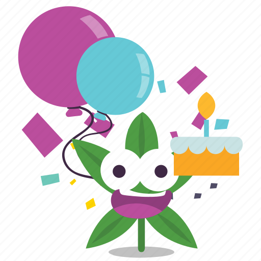 birthday, cake, cannabis, marijuana, weed icon
