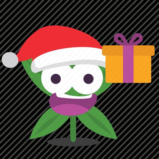 cannabis, christmas, marijuana, present, weed icon