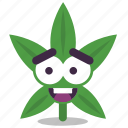 cannabis, happy, laugh, marijuana, weed icon