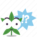 cannabis, marijuana, puzzle, question, weed icon