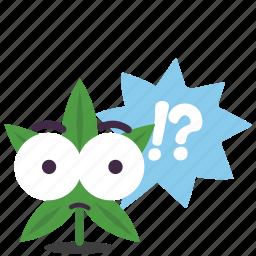 cannabis, marijuana, puzzle, question, weed icon