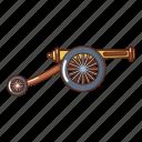 armament, army, artillery, cannon, cartoon, logo, object