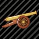 armament, army, cannon, cartoon, logo, menacing, object