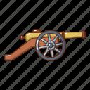 armament, army, cannon, cartoon, coastal, logo, object