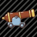armament, army, battle, cannon, cartoon, logo, object