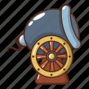 armament, army, cannon, cartoon, logo, object, ship