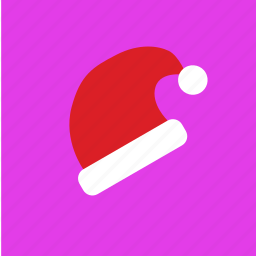 cap, fashion, hat, santa icon