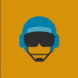 cap, hat, helm, pilot icon