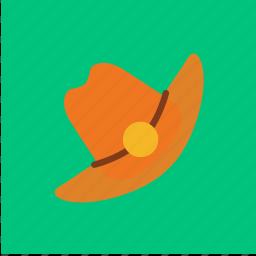 cap, cowboy, fashion, hat icon