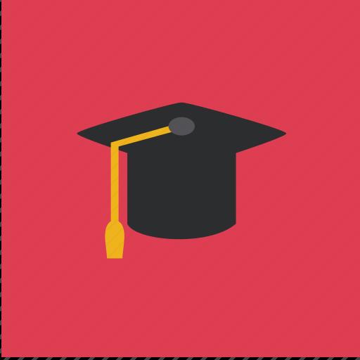 cap, graduation, hat, student icon