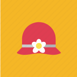 cap, fashion, flower, hat icon