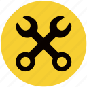 car, equipment, tools, workshop, wrench icon