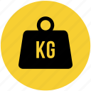 kg, kilogram, transportation, weight icon