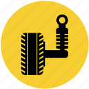 car, parts, race, suspension, vehicle icon