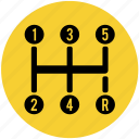 car, gearbox, manual, shift, shifter, transmission icon