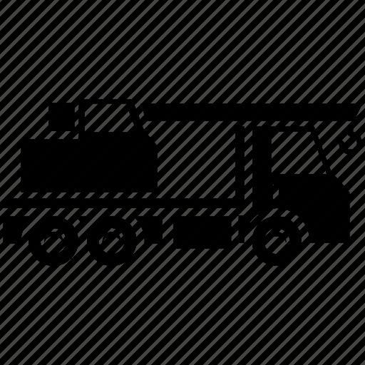 car, crane, crane car, transportation, truck, vehicle icon