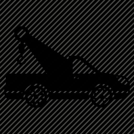 car, crane car, transportation, vehicle icon