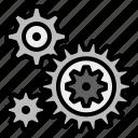 cog, cogwheel, gear