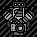 car, engine, mechanic, oil, vehicle icon
