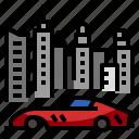 car, luxury, city