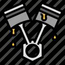 car, engine, oil, piston icon