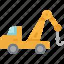 car, crane, logistics, service, transportation, truck icon