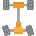 car, system, transport, wheels icon