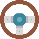 car, driving, steering, transportation, wheel icon