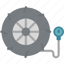 car, garage, pump, service, tire, wheel icon