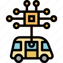 artificial, car, chip, electronics, engine, intelligen icon
