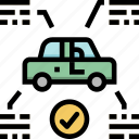 car, checked, repair, transport, transportation, vehicle icon