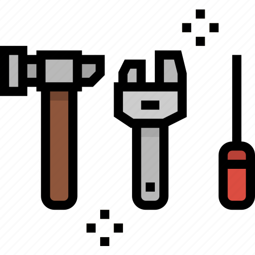 garage, mechanic, repair, tools icon