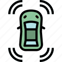 beep, car, parking, security, sensor, system icon