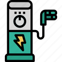 car, charger, charging, electric, eletrical, power, technology icon
