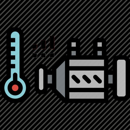 car, engine, garage, heat, motor, transportation icon