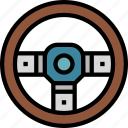 car, driving, steering, transportation, wheel icon