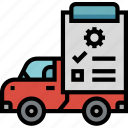cars, checked, repair, repairing, transportation icon