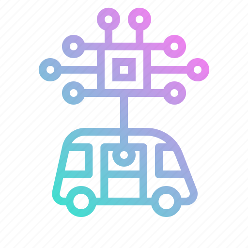 ai, artificial, car, chip, electronics, engine, intelligen icon