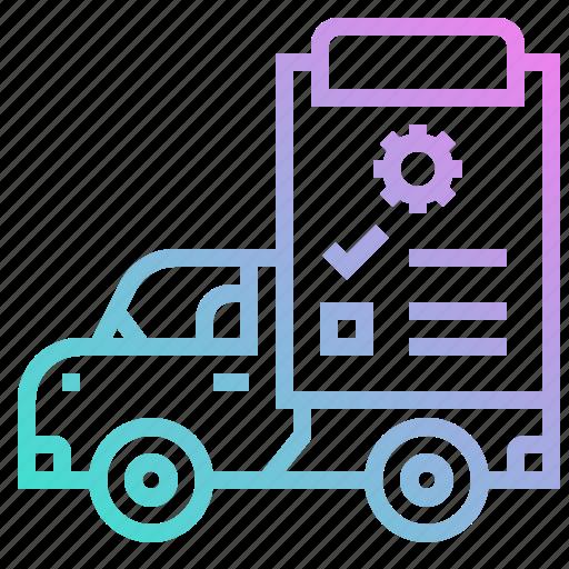 cars, checked, repair, repairing, transportation icon