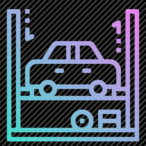 electronics, garage, lift, repair, repairing, tire icon