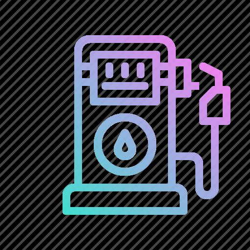 gas, gasoline, oil, petrol, petroleum, station icon