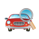 car, glass, magnifier, transport, transportation, vehicle icon