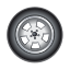 auto, automobile, car, tire, transport icon