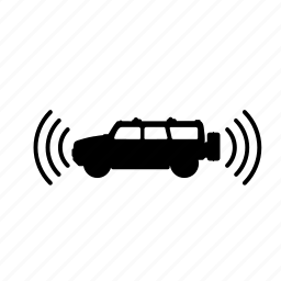 self-driving, sensor, side, two icon